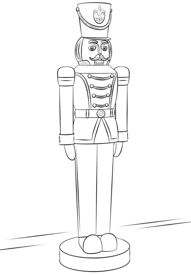 Деревянный игрушечный солдат раскраска