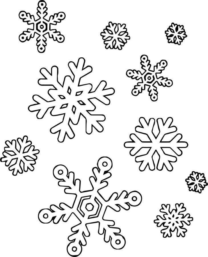 Раскраска фон снежинки