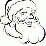 Голова Деда Мороза раскраска
