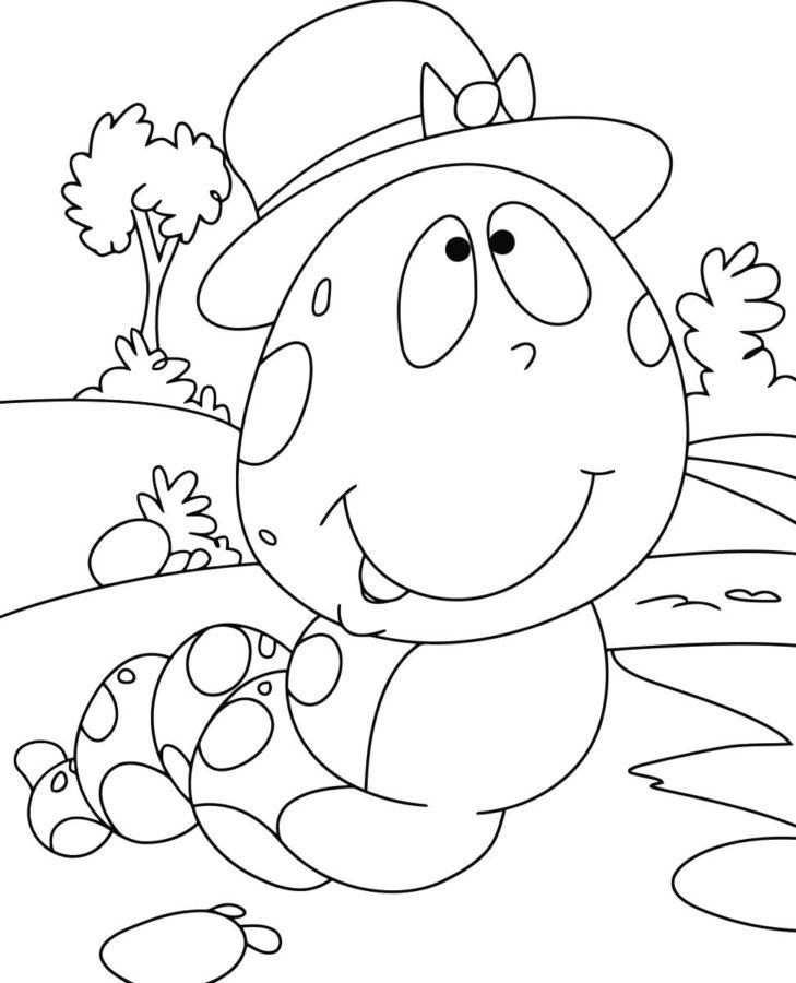Гусеница с большой головой