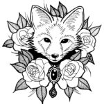 Голова лисы раскраска