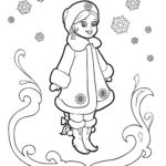 Костюм снегурочки раскраска