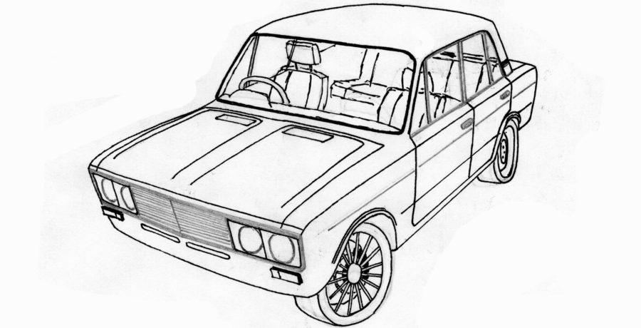 Раскраска Лада шестёрка 6 (ВАЗ 2106)