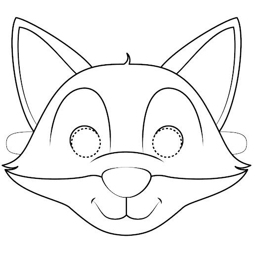 Раскраска маска лисы