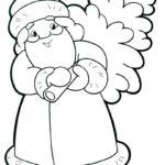 Новогодняя раскраска дед мороз