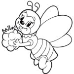 Пчела картинка раскраска