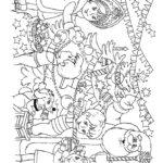 Помощники Деда Мороза раскраска