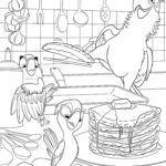 Попугай рио раскраска