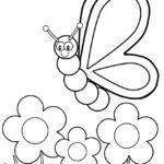 Раскраска бабочки для детей 4 5 лет