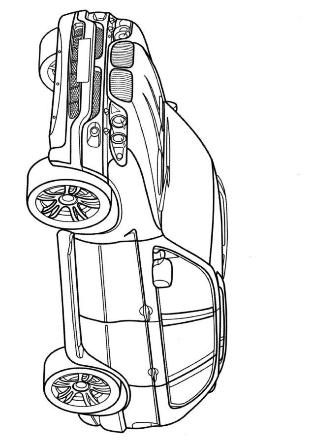Раскраска БМВ х5