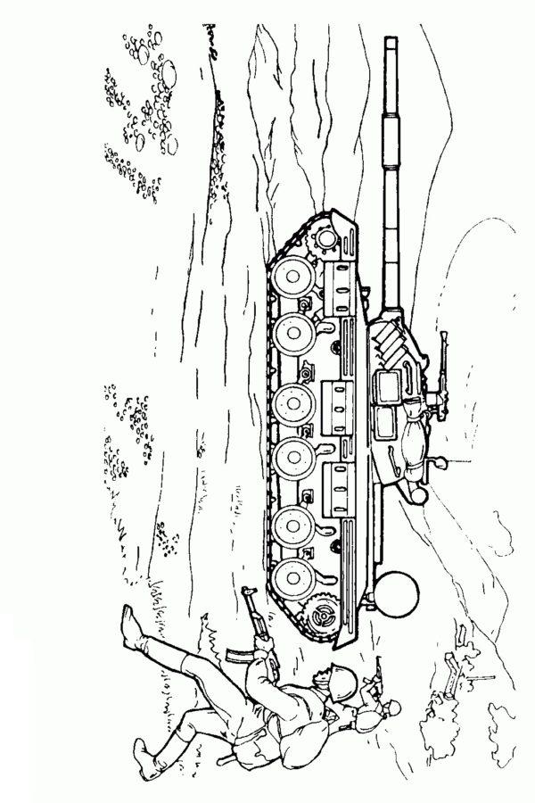 Раскраска бой танков