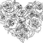 Раскраска цветы сердечки