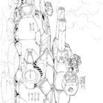 Раскраска для мальчиков танки будущего