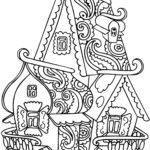 Раскраска дома Деда Мороза