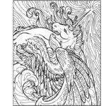 Раскраска единорог с крыльями
