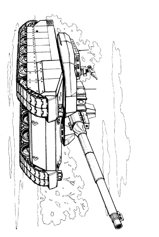 Раскраска французский танк