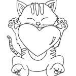 Кошка с сердечком