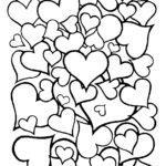 Раскраска маленькие сердечки