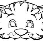 Раскраска маска тигра