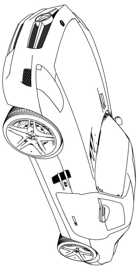 Раскраска Мерседес АМГ СЛС (AMG SLS)