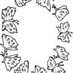 Раскраска много бабочек