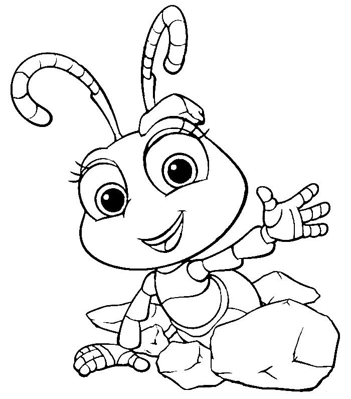 Раскраска муравей