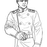 Раскраска офицер