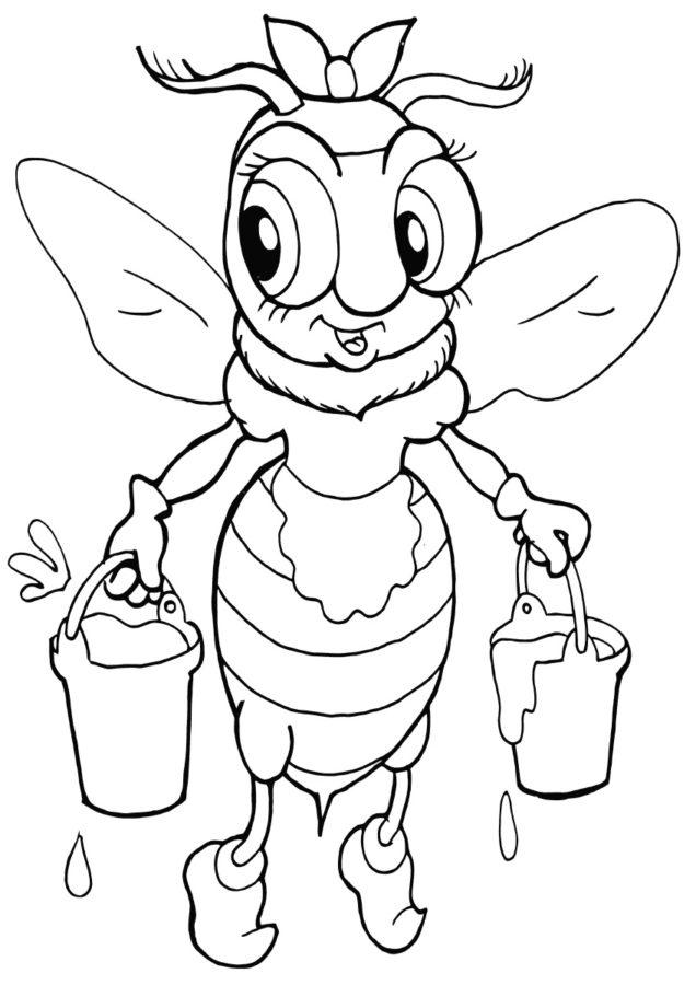Раскраска пчела и мёд