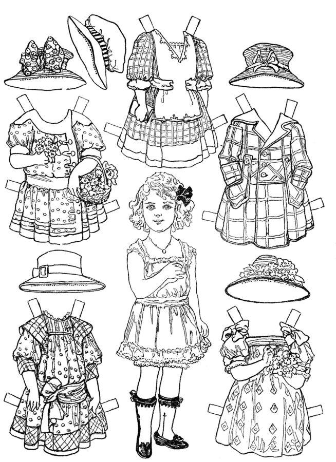 Раскраска платья для куклы