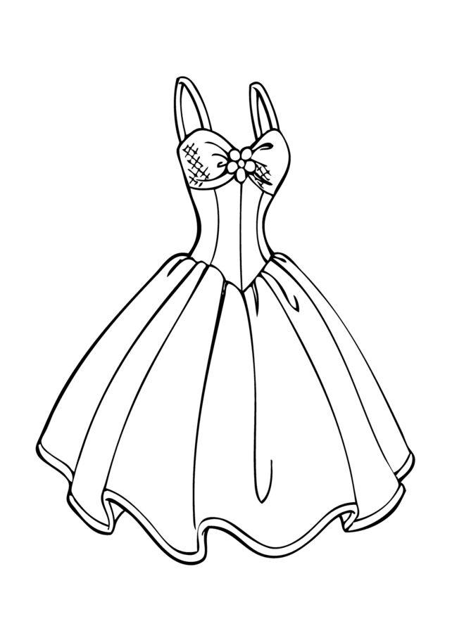 Раскраска платье для мамы