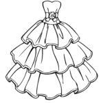 Раскраска платье принцессы
