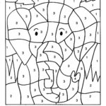 Раскраска по номерам слон
