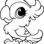 Раскраска попугай милый