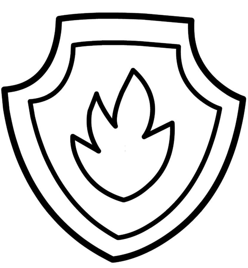 Раскраска пожарный щит