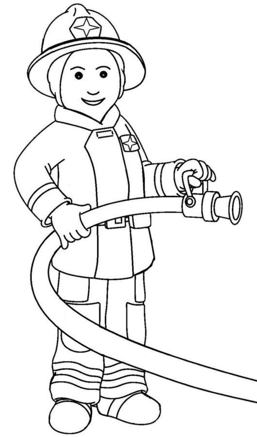 Раскраска пожарный шланг (рукав)