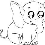 Раскраска розового слона