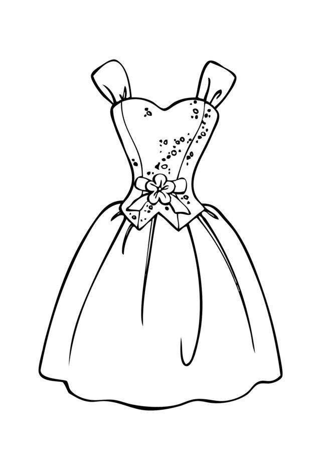 Раскраска самое красивое платье