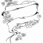Раскраска сердечки и цветочки