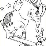 Раскраска слона и моськи