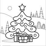 Раскраска снежная ёлка
