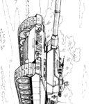 раскраска современный немецкий танк