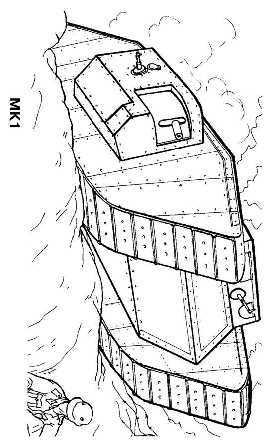 Раскраска старый немецкий танк