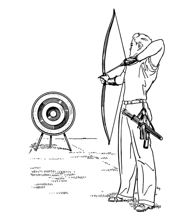 Раскраска стрельба из лука