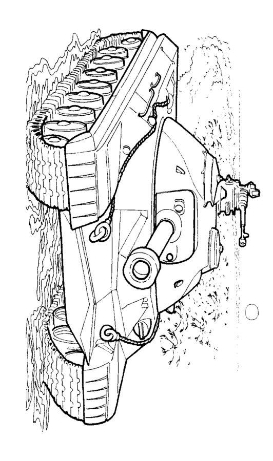 Раскраска танк ИС 3