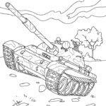 Раскраска танк Т - 54