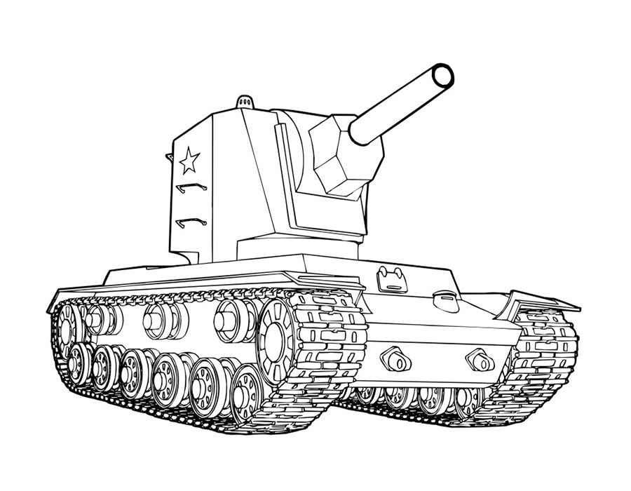 Раскраска танка кв 2