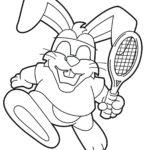 Раскраска большой теннис
