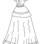 Раскраска в длинном платье