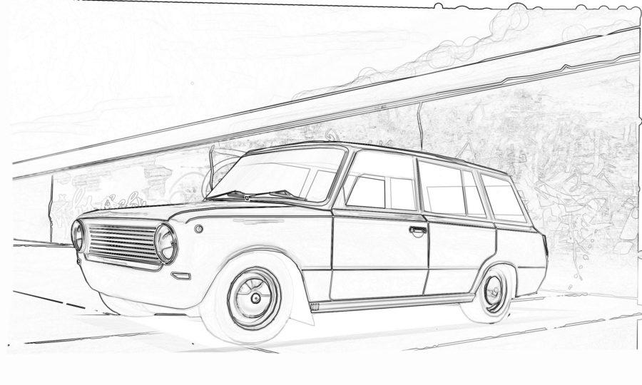 Раскраска ВАЗ 2102
