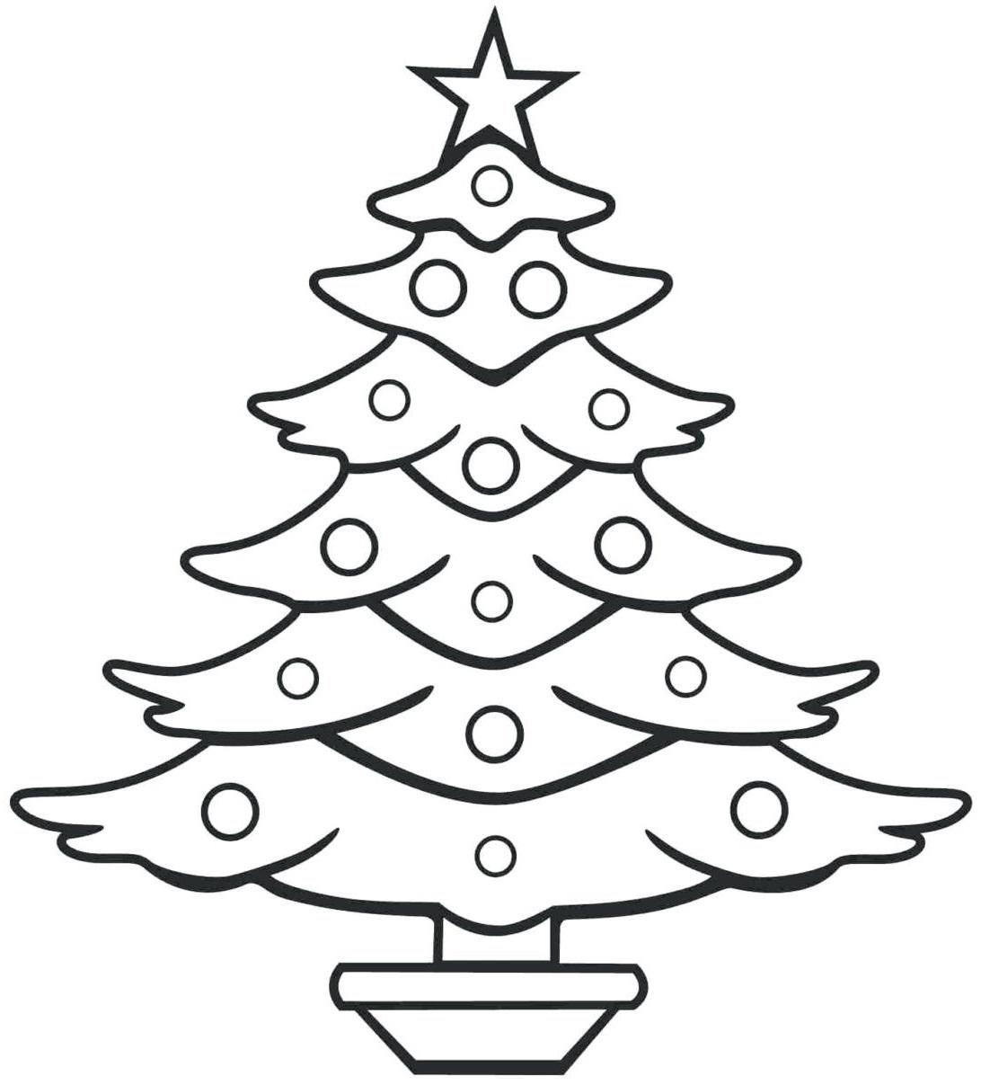 Картинка черно-белая елка